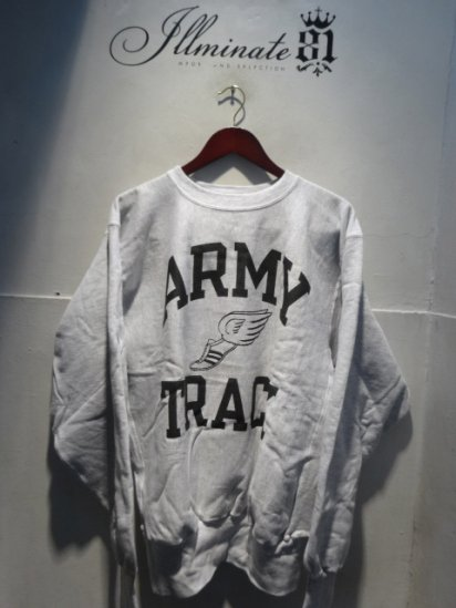 90's Champion Reverse Weave Sweat Dead stock Made in Mexico<BR> ARMY TRUCK