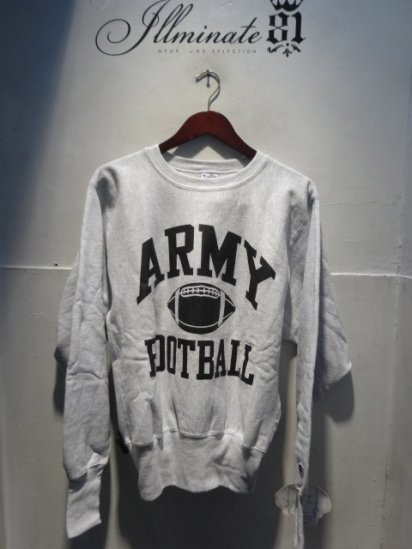90's Champion Reverse Weave Sweat Dead stock Made in U.S.A<BR> Army Football