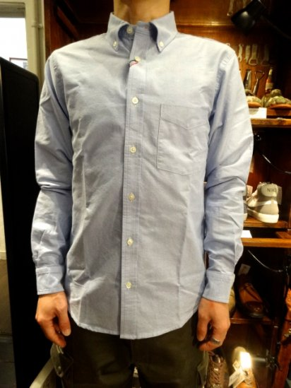 SERO Oxford L/S B.D Shirts MADE IN U.S.A  <br>Sax