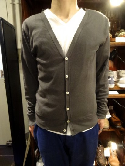Gicipi Cotton/cashmere Cardigan Made in Itary  Gray<BR>SALE! 9800→6860+Tax