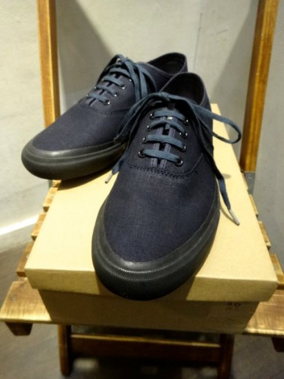 RRL New Norfolk Canvas Sneaker Indigo