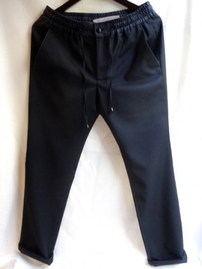 Equipage Easy Trousers Made in Italy<BR>Black × Navy<BR>SALE! 26,000 + Tax → 18,200 + Tax