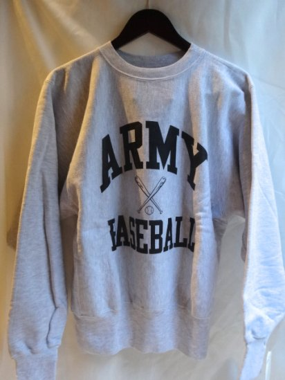 90's Champion Reverse Weave Sweat Dead stock Made in U.S.A<BR> Army Baseball