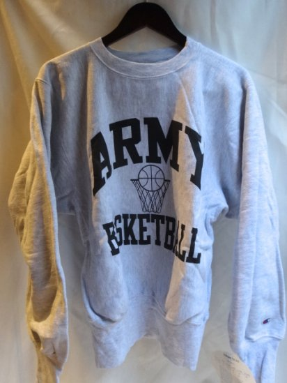 90's Champion Reverse Weave Sweat Dead stock Made in U.S.A<BR> Army Basketball