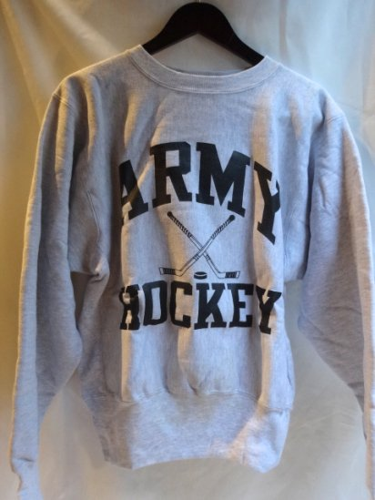90's Champion Reverse Weave Sweat Dead stock Made in U.S.A<BR> Army Hockey