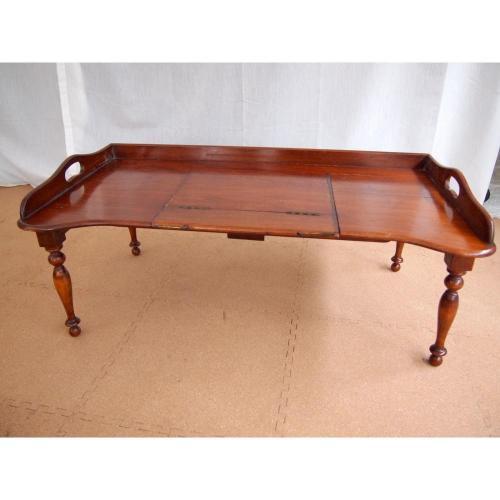 イギリスアンティーク家具マホガニーベッドテーブル/ベッドトレイ/ブックスタンド