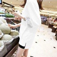 トップス L即納 S-2XL予約 白 薄手 シースルー 2080486 長袖 Tシャツ ラウンドネック 丸首 無地 スパンコール シンプル 大きいサイズ   服 服装 無地 個性的 ナチュラル