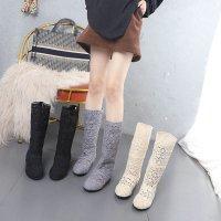 サマーブーツ 黒ソール レディース レース 白41即納 22.5cm-25.5cm 35-41 夏ブーツ ミドルブーツ Ihx-417k ハーフブーツ ぺたんこ 4色 大きいサイズ 黒 白 ベージュ