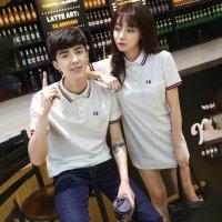 ペアルック カップル ペアポロシャツ & ワンピース 黒 白 S-XL 2689637 半袖 春夏 お揃い メンズ レディース 韓国ファッション