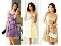新作 大きいサイズ 全3色 上品 Aライン ウエストバラ ドレス ワンピース