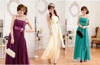 新作 大きいサイズ パーティー 披露宴 演奏会 欧米風上品スパンコール シフォン ロング ドレス