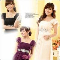 予約 パーティードレス 結婚式ドレス リボン ロングドレス シフォン 大きいサイズありbf9802