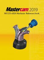 Mastercam 5軸マニュアル・参考書(〜2019に対応) 【オリジナルリファレンスブック】