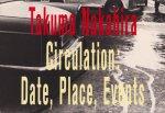 サーキュレーション 日付、場所、行為 中平卓馬