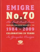 Emigre No. 70 the Look Back Issue: Selections from Emigre Magazine 1-69. エミグレ