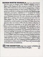 <img class='new_mark_img1' src='https://img.shop-pro.jp/img/new/icons50.gif' style='border:none;display:inline;margin:0px;padding:0px;width:auto;' />Maison Martin Margiela 20 The Exhibition マルタン・マルジェラ