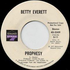 Prophesy (stereo) / (mono)