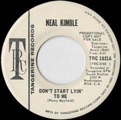 Don't Start Lyin' To Me (stereo) / (mono)