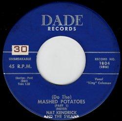 Nat Kendrick & The Swans - (Do The) Mashed Potatoes (pt.1) / (pt.2) - SHOT  RECORDS 7インチレコード通販 - SOUL, R&B, BLUES, FUNK45