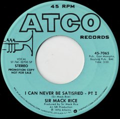 I Can Never Be A Satisfied (stereo) / (mono)