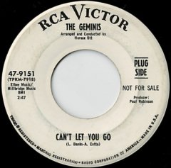 Can't Let You Go / I Hired The Girl