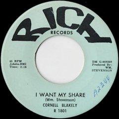 I Want My Share / I've Got That Feeling
