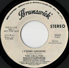 I Found Sunshine (stereo) / (mono)