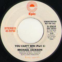 You Can't Win (stereo) / (mono)