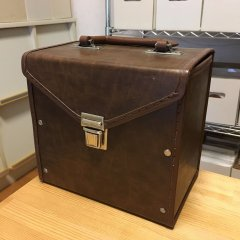 7inch Record Case - Brown Leather