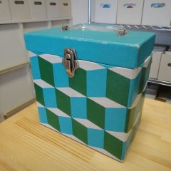 7inch Record Case - Blue Cube