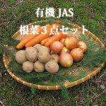 ◆美味しさ丸ごと詰め合わせ◆有機根菜3種セット 各1kずつ 【合計約3kg】