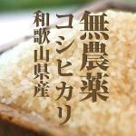 新米 無農薬 こしひかり 白米 2キロ 令和2年度和歌山県産