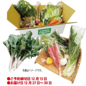 【予約】年末年始 野菜13~15品セット お届け12/27〜12/30 縁起もの野菜など