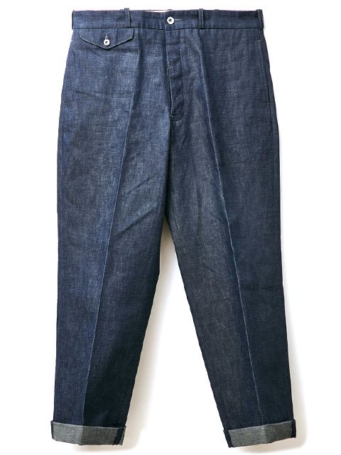 RAGTIME DENIM TROUSERS with CINCH  BACK