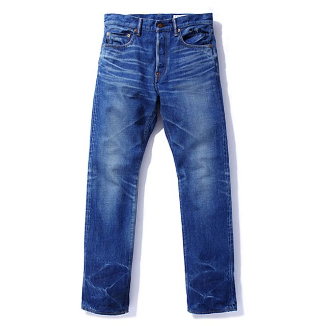WASHED REGULAR DENIM PANTS