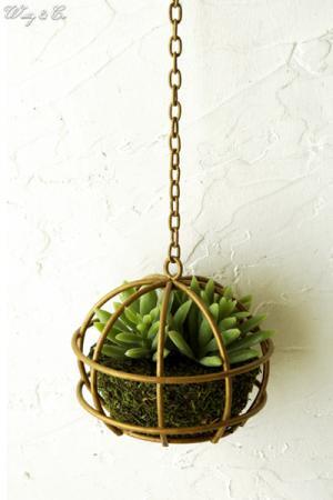 人工観葉植物 Succulent Wire Ball S ハ...