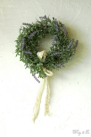 リース Lavender Wreath Ribbon ( ラベ...
