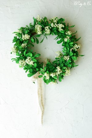 リース Green Wreath Ribbon ( 壁掛け ...