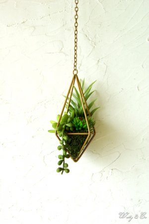 人工観葉植物 Succulent Wire Square S ...