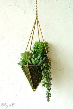 人工観葉植物 Succulent Wire Square L ...