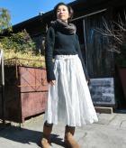 ふんわりタックギャザースカートの商品画像