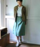 M-Basic 前タックAラインスカートの商品画像