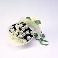 バラの花束(白)