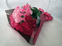 緑寿お祝いバラの花束(ピンク・カルテット)66本