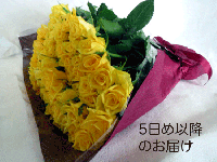 緑寿お祝いバラの花束(黄色)66本