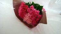 古希お祝いバラの花束(ピンク・クインテット)70本