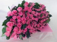 半寿お祝いバラの花束(ピンク)81本