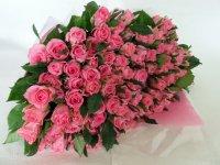 白寿お祝いバラの花束(ピンク)99本
