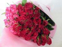 バレンタインローズ「ラブ パーマネント」(赤&ピンク)50本