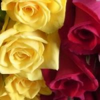 追加用のバラ1本(ローズ・デュオ 赤&黄色)